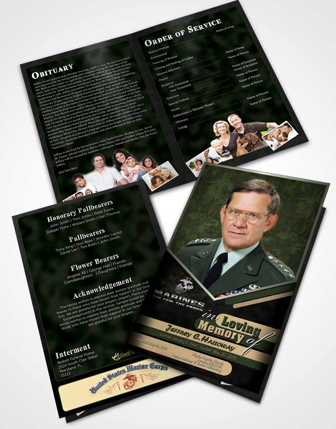Bifold Order Of Service Obituary Template Brochure 1st Marines The Few The Proud Serenity.jpg