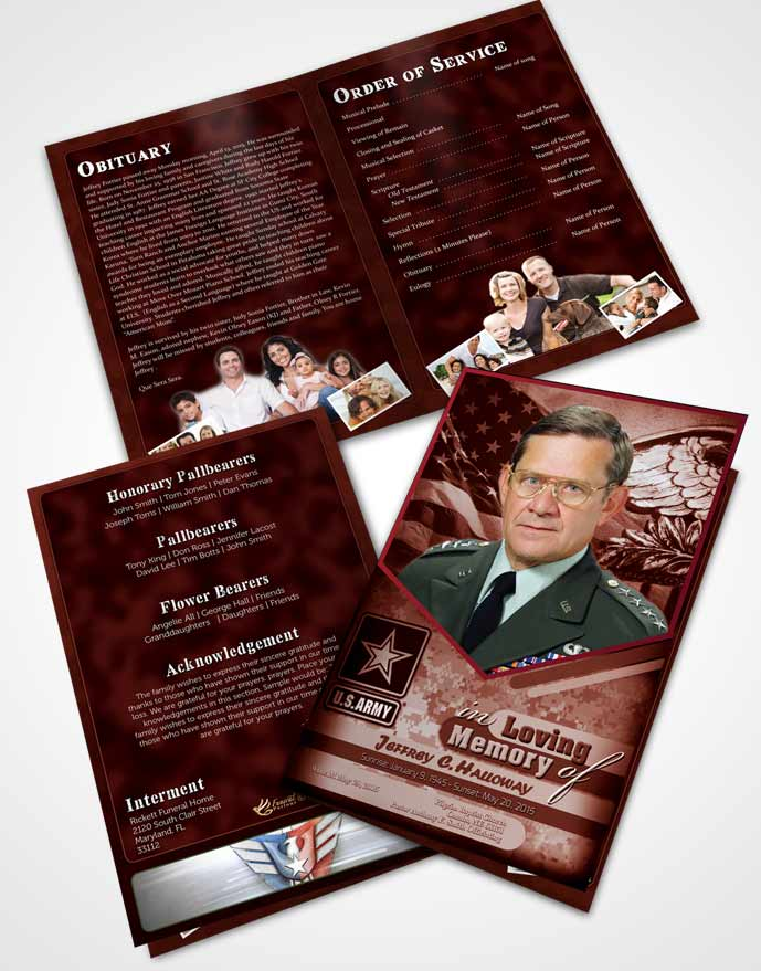 Bifold Order Of Service Obituary Template Brochure 2nd Army Soldier Sunrise.jpg