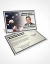 Funeral Prayer Card Template 1st Veterans Day Serenity