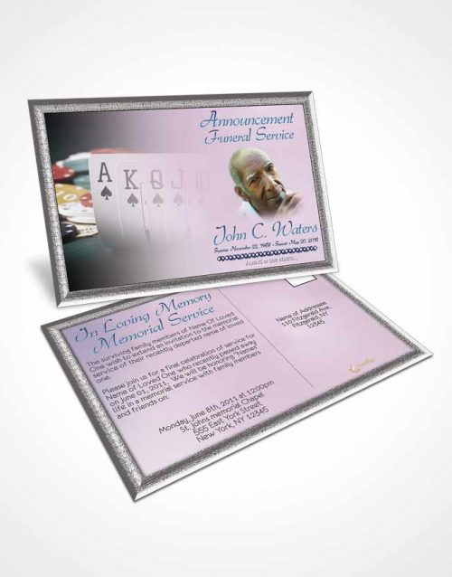 Funeral Announcement Card Template Early Morning Cards
