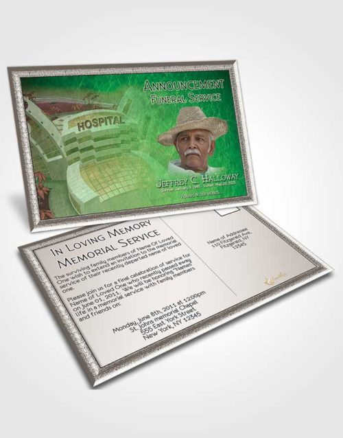Funeral Announcement Card Template Emerald Doctor