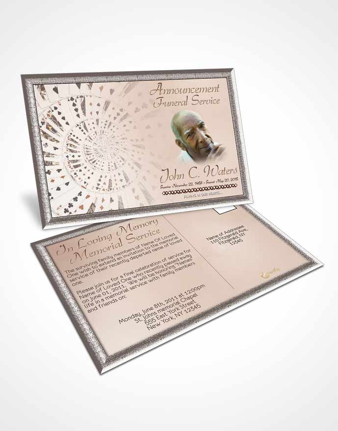 Funeral Announcement Card Template Lets Play Golden Cards