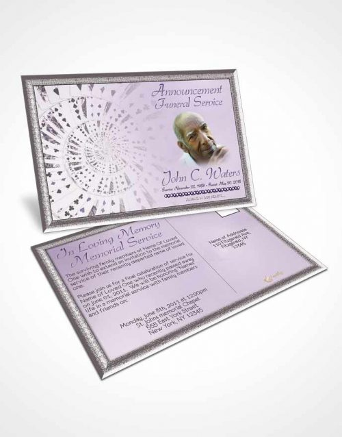 Funeral Announcement Card Template Lets Play Lavender Cards