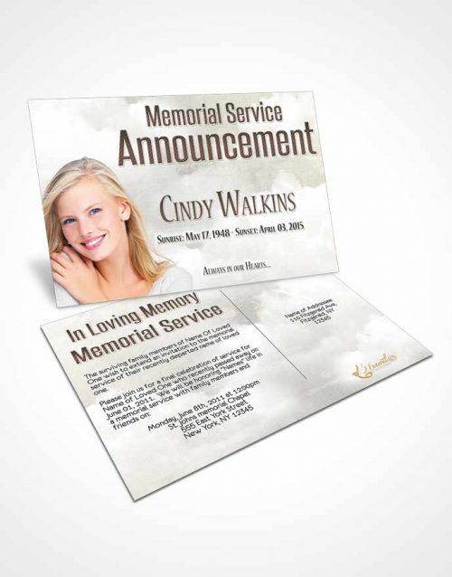 Funeral Announcement Card Template Natural Elegance A Walk in the Park