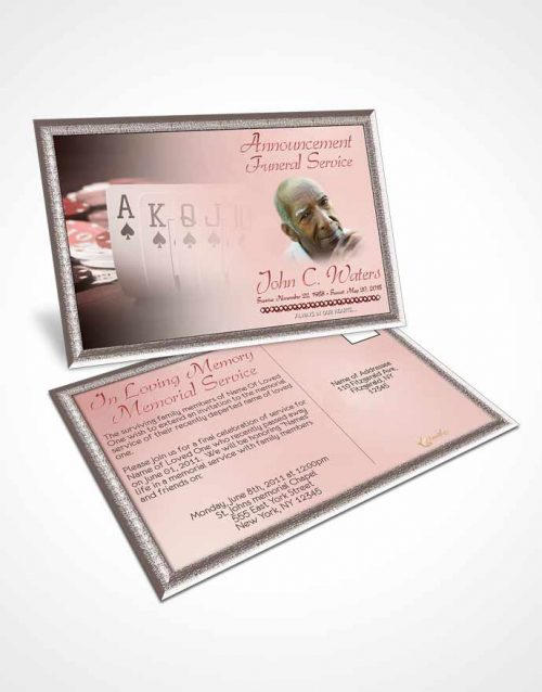 Funeral Announcement Card Template Ruby Cards
