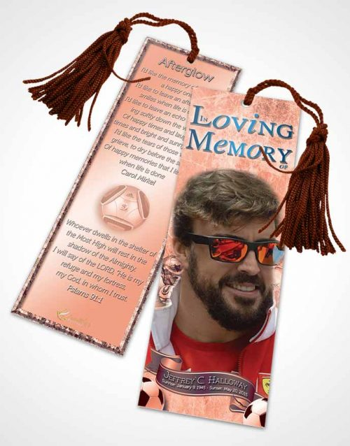 Funeral Bookmark Template Brilliant Ruby Dreams Soccer Superstar