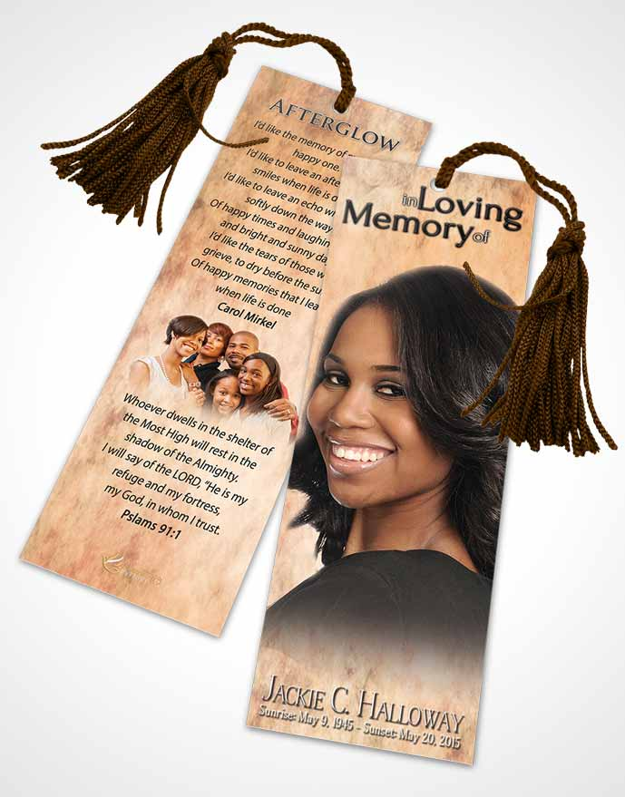 Funeral Bookmark Template Lovely Harmonics