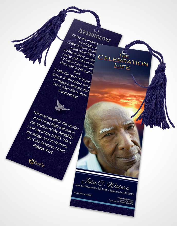 Funeral Bookmark Template Loving Higher Power