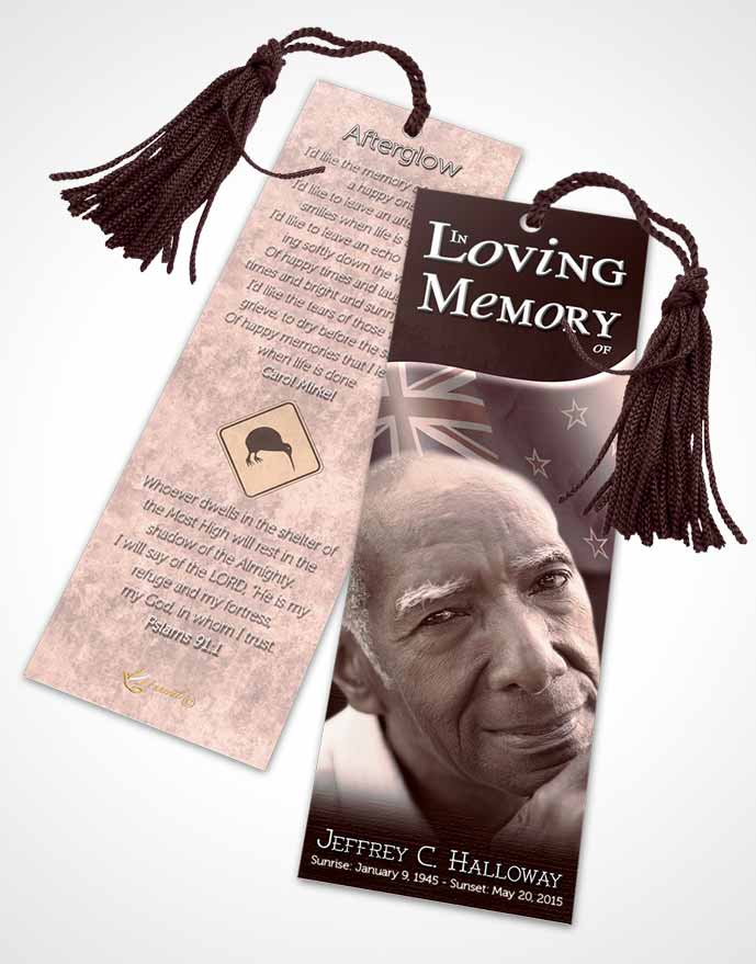 Funeral Bookmark Template Mexican Lavender Serenity