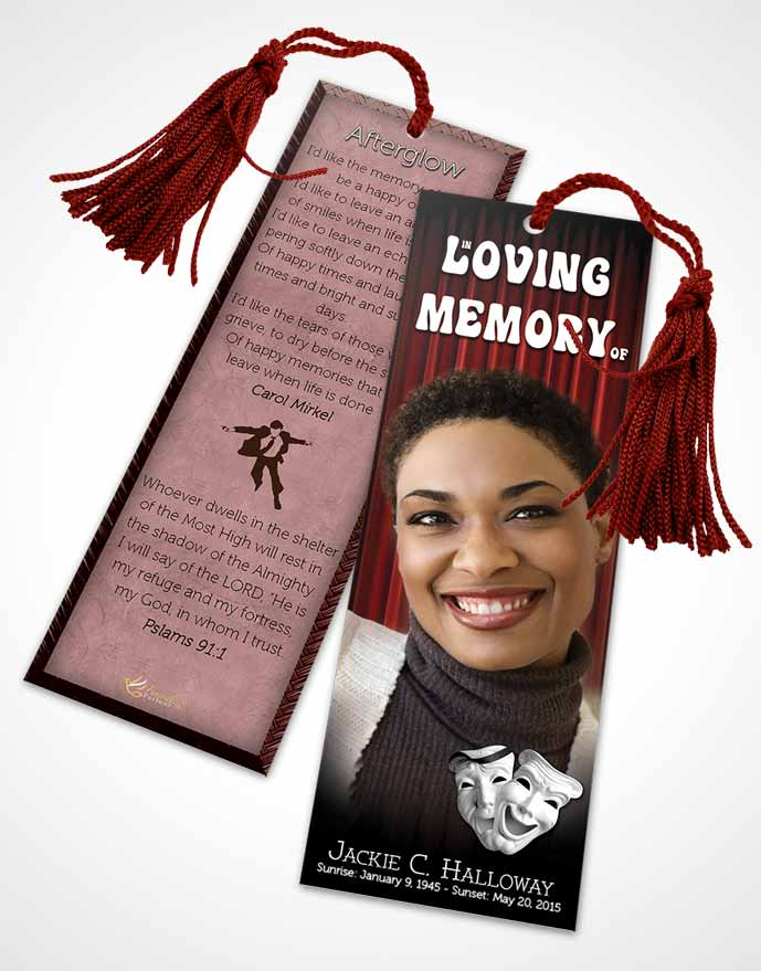 Funeral Bookmark Template Ruby Actor