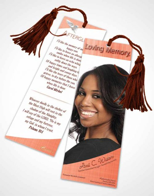 Funeral Bookmark Template Ruby Simplicity