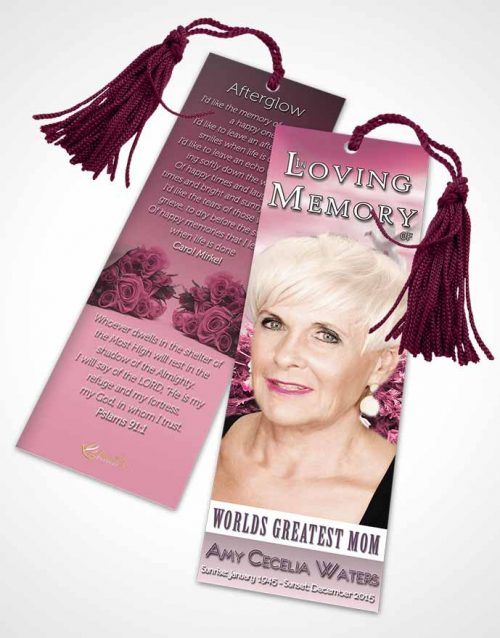 Funeral Bookmark Template Worlds Greatest Tranquil Mom