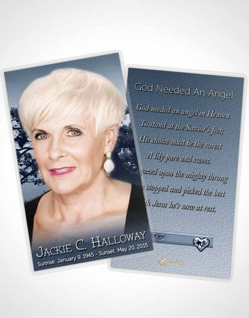 Funeral Prayer Card Template A Blissful Topaz Tree