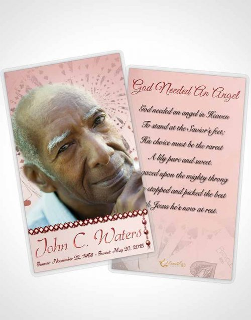 Funeral Prayer Card Template Lets Play Ruby Cards