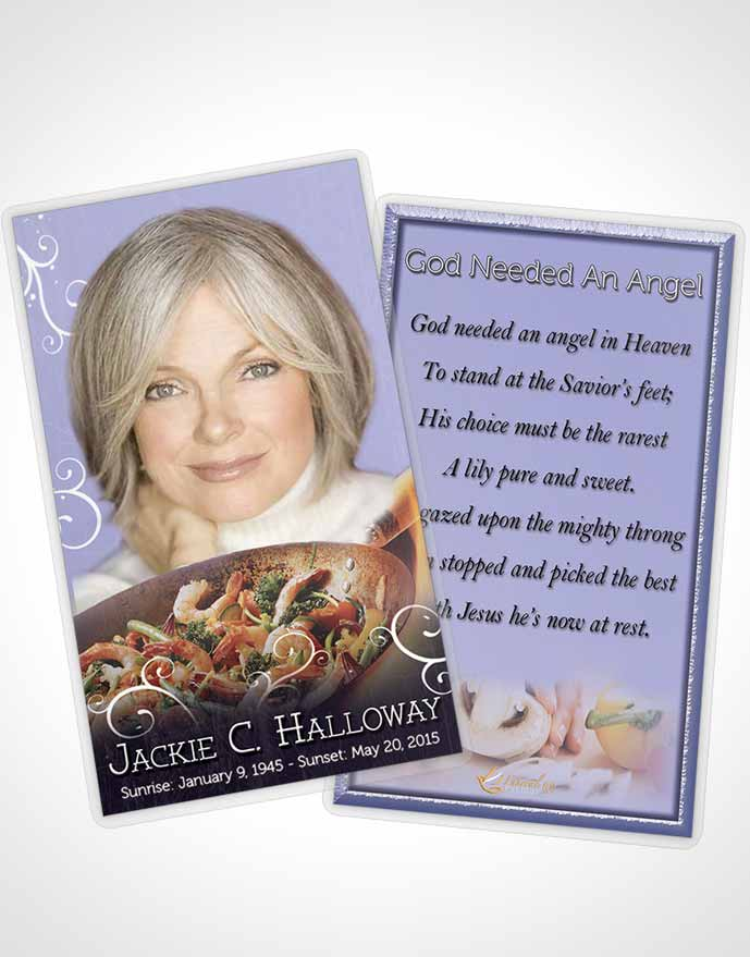Funeral Prayer Card Template Love of Lavender Cooking