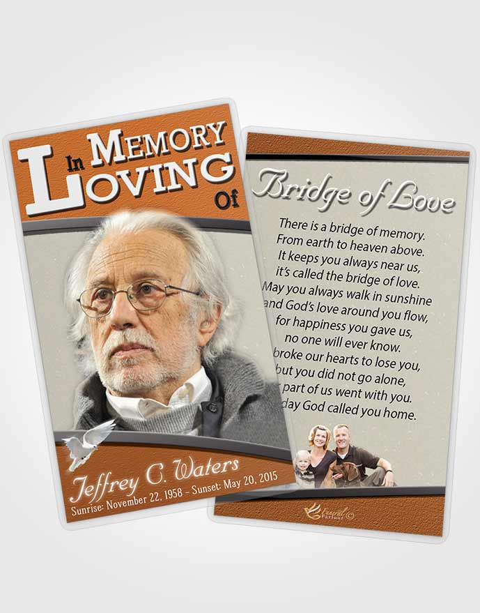 Funeral Prayer Card Template Loving Clarity