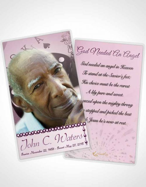 Funeral Prayer Card Template Tender Double Down