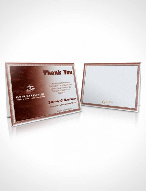 Funeral Thank You Card Template 1st Marines The Few The Proud Sunrise