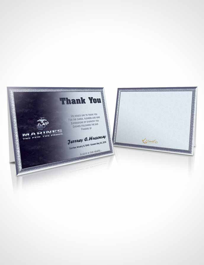 Funeral Thank You Card Template 1st Marines The Few The Proud Sunset