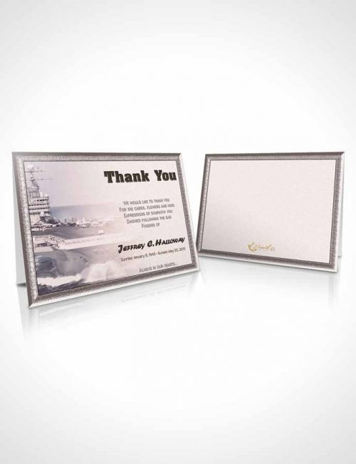 Funeral Thank You Card Template 1st Navy Sailor Bliss