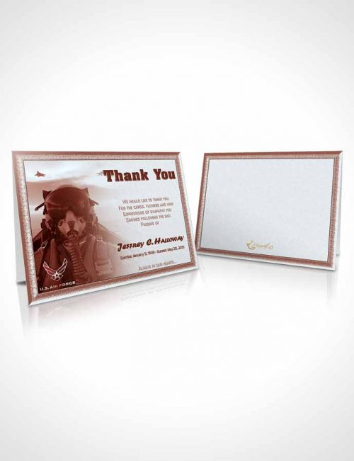 Funeral Thank You Card Template 2nd Air Force Airman Sunrise