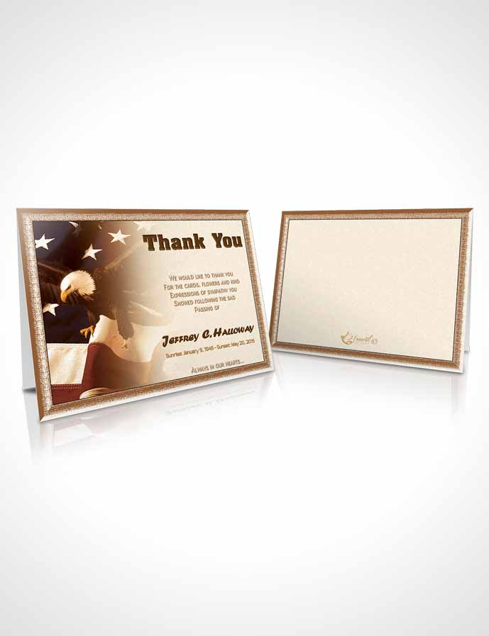 Funeral Thank You Card Template 2nd Veterans Day Love