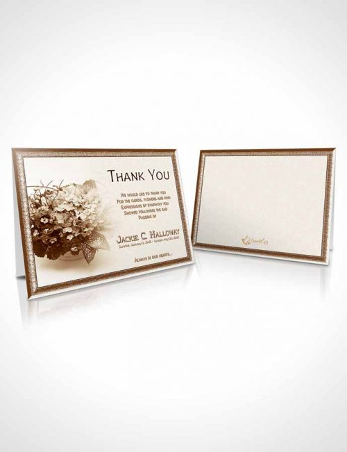 Funeral Thank You Card Template A Beautiful Golden Bouquet