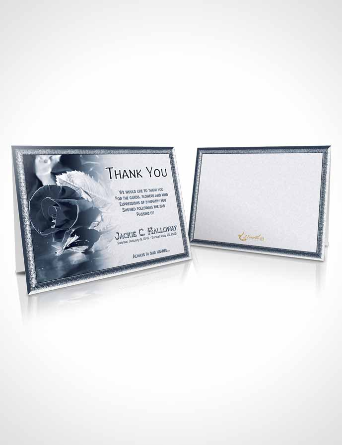 Funeral Thank You Card Template A Beautiful Topaz Rose