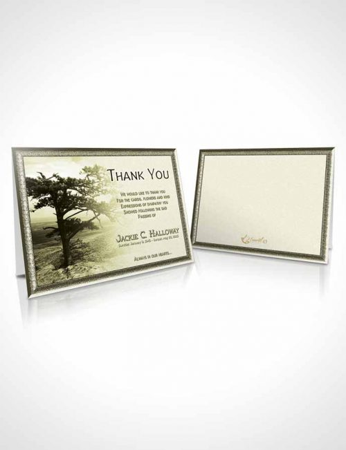 Funeral Thank You Card Template A Blissful Rustic Tree