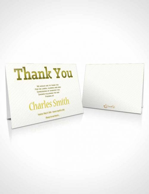 Funeral Thank You Card Template A Childs Passing Ginger Blossom