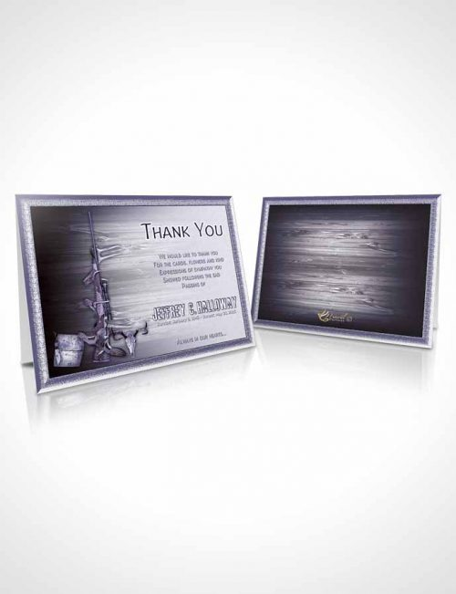 Funeral Thank You Card Template A Hunters Catch Blue Desire
