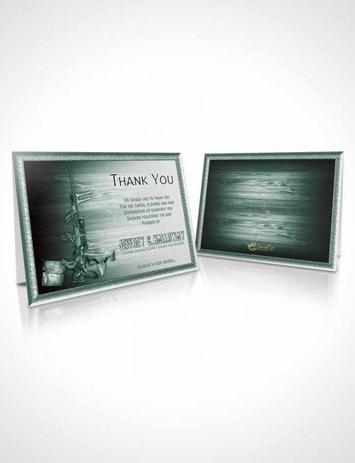 Funeral Thank You Card Template A Hunters Catch Forest Green