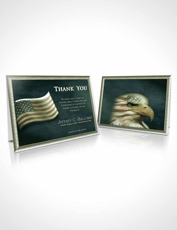 Funeral Thank You Card Template American Life Tenderness
