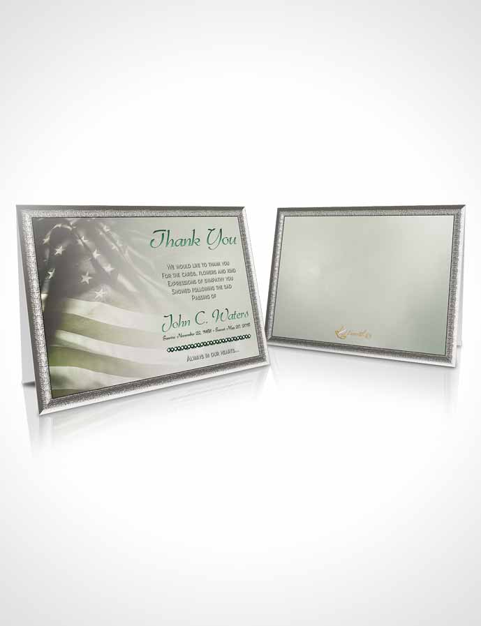 Funeral Thank You Card Template American Life Autumn Sky
