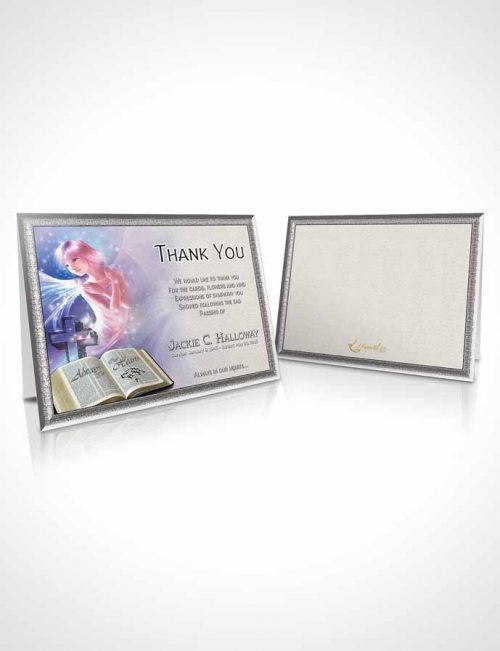 Funeral Thank You Card Template Angel in the Sky