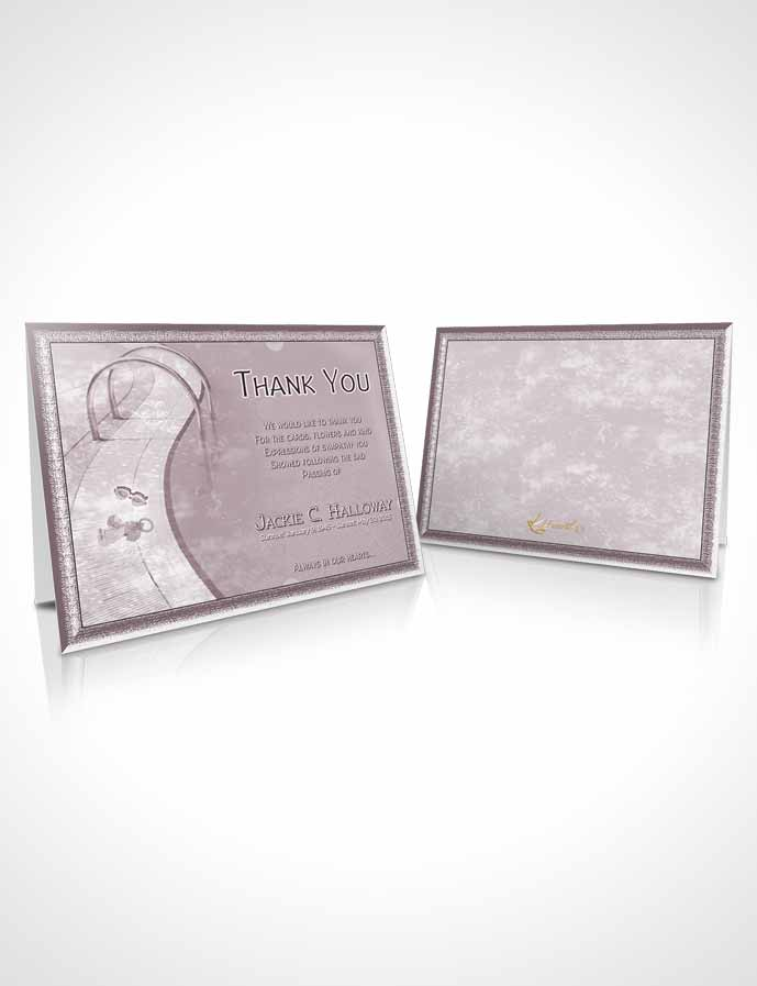 Funeral Thank You Card Template Autumn Breeze Swimming Desire