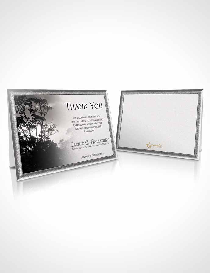 Funeral Thank You Card Template Black and White Morning Sky