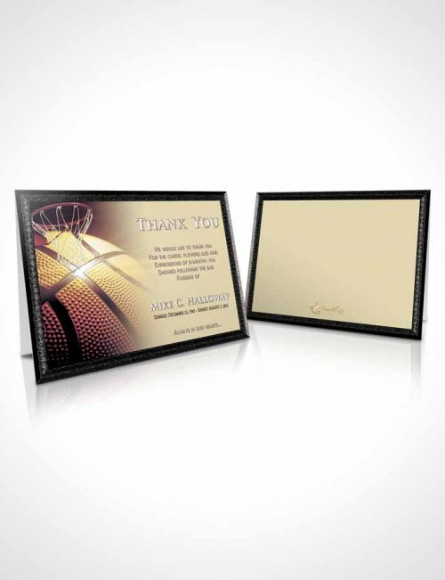 Funeral Thank You Card Template Blissful Basketball Honor
