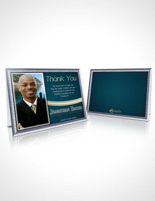 Funeral Thank You Card Template Blue Heaven Journey
