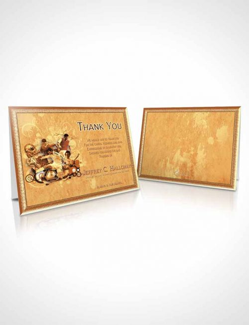 Funeral Thank You Card Template Brilliant Rustic Soccer Superstar