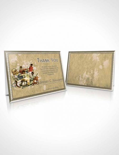 Funeral Thank You Card Template Brilliant Soft Serenity Soccer Superstar