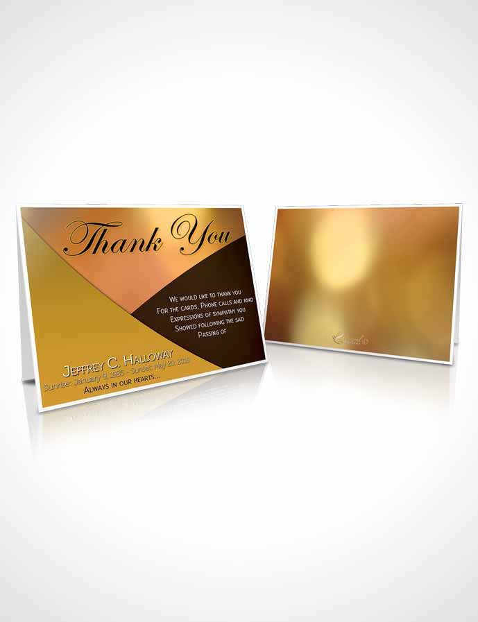 Funeral Thank You Card Template Crystal Harmony Gamboge Light