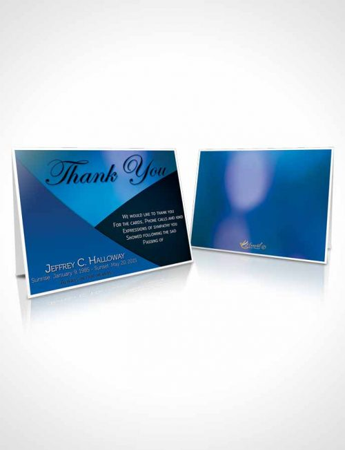 Funeral Thank You Card Template Crystal Harmony Palatinate Blue Dark