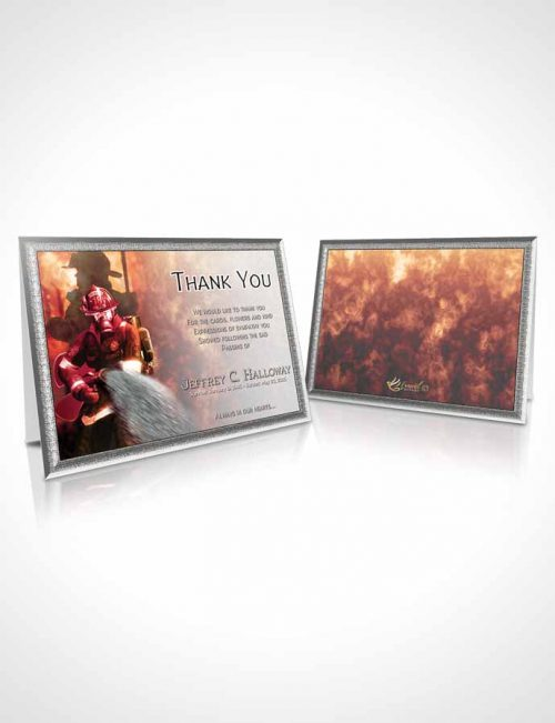 Funeral Thank You Card Template Deep Firefighter