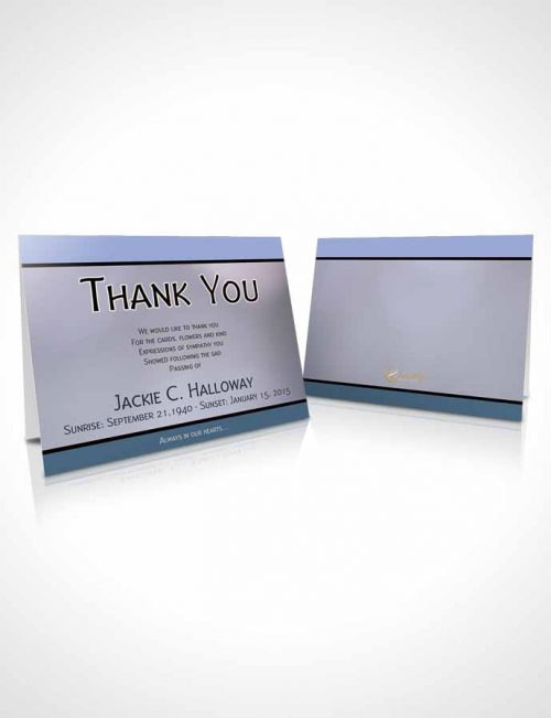 Funeral Thank You Card Template Divine Essence Soft Blue Heritage