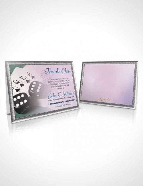 Funeral Thank You Card Template Early Morning Double Down