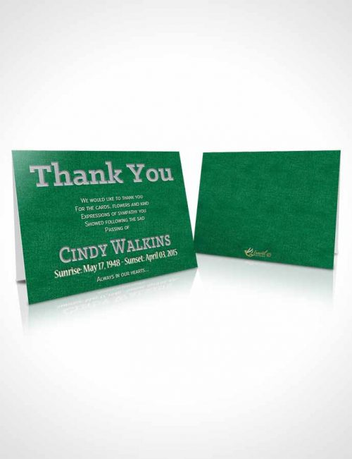 Funeral Thank You Card Template Elegant Love Glowing Emerald