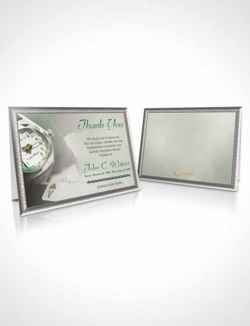 Funeral Thank You Card Template Emerald Aces