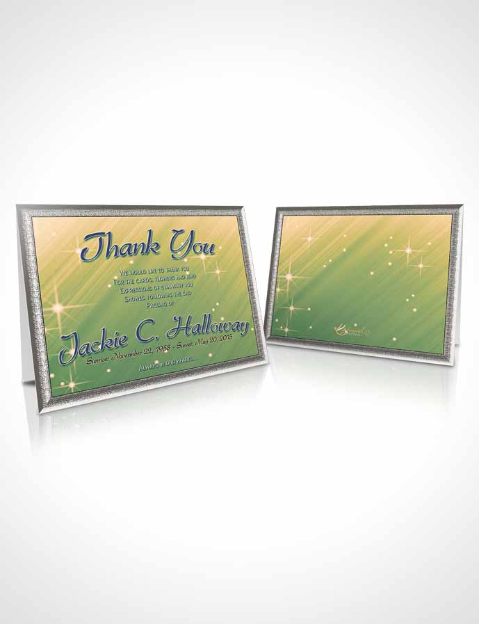 Funeral Thank You Card Template Emerald Forest Serenity
