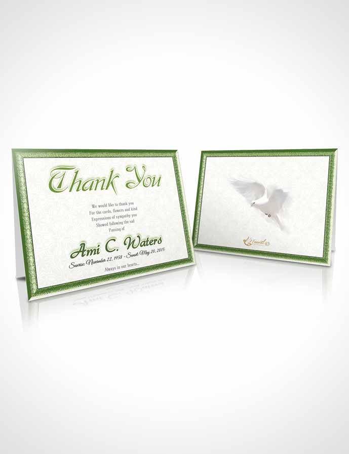 Funeral Thank You Card Template Forest Purity